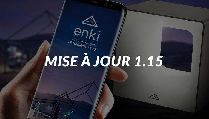 mise à jour 1.15 de l'application enki