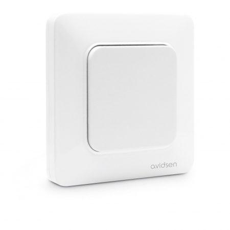 interrupteur connecté blanc 1 bouton sans pile sans fil enocean avidsen