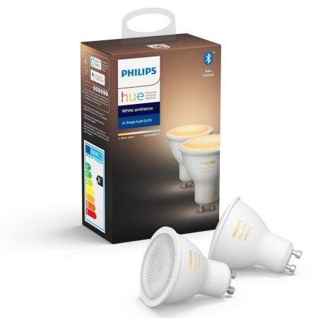 2 ampoules led gu10 philips hue
