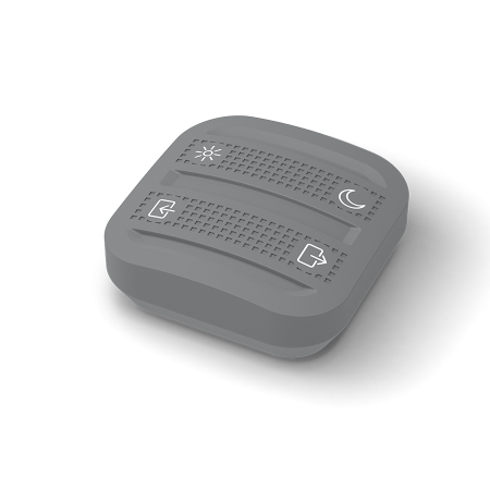 télécommande connectée 4 boutons scénario grise evology