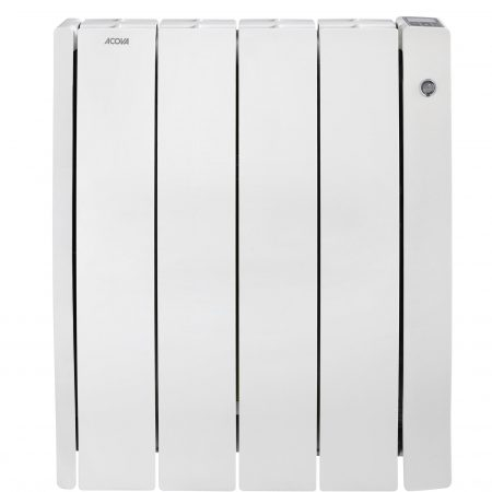 Radiateur électrique à inertie sèche 1000 W ACOVA Taffetas 2 connecté blanc