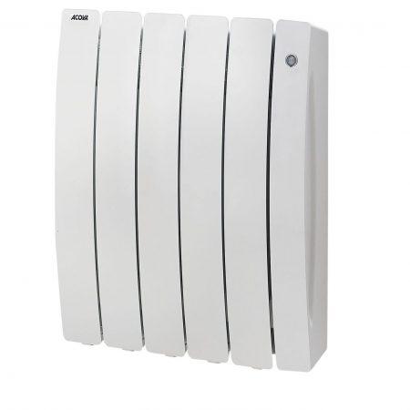 Radiateur électrique connecté à inertie fluide 750W ACOVA Percale 2 blanc