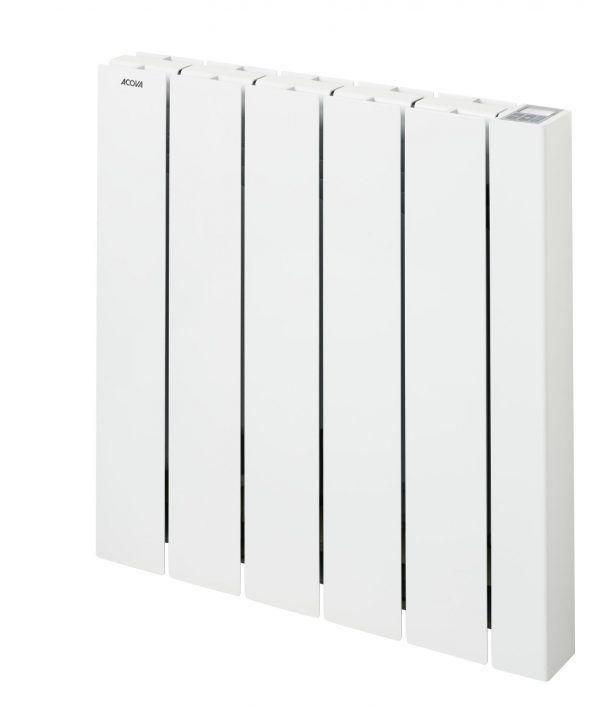 Radiateur électrique connecté à inertie fluide 1000W ACOVA Alcantara 2 blanc