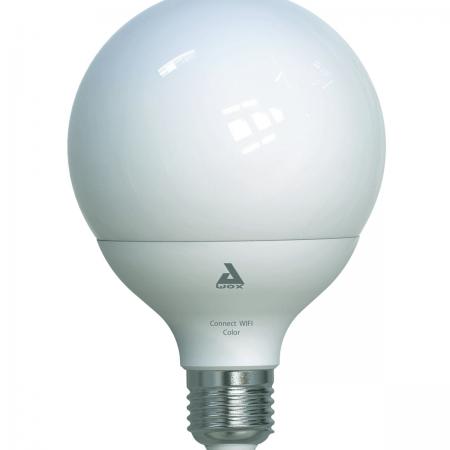 ampoule connectée led 95 mm e27 1300 lm variation couleur changeante, eglo