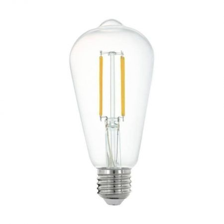 ampoule connectée led edison e27 806lm = 60w blanc + intensité variables, eglo