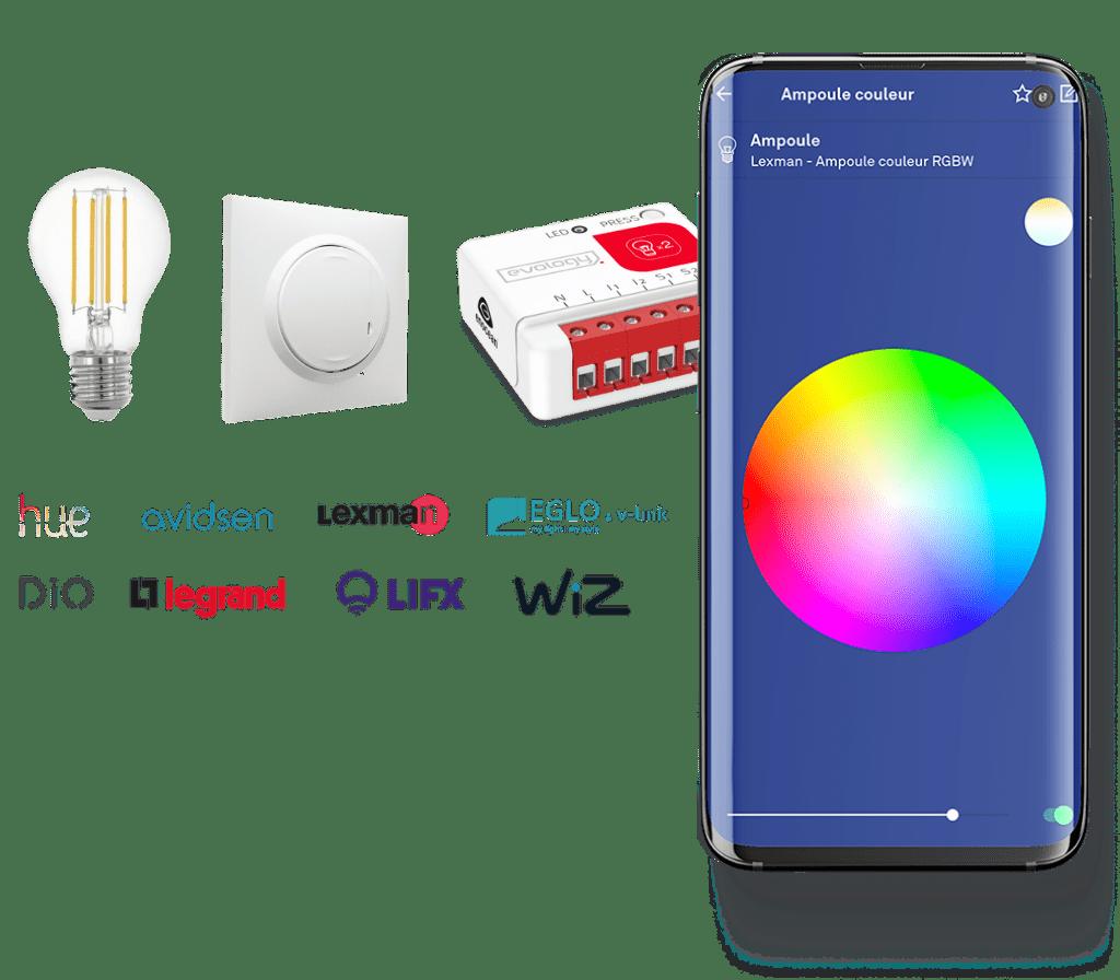 marques et application pour piloter son éclairage