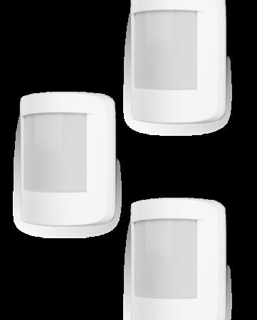 3 détecteurs de présence pour alarme lexman